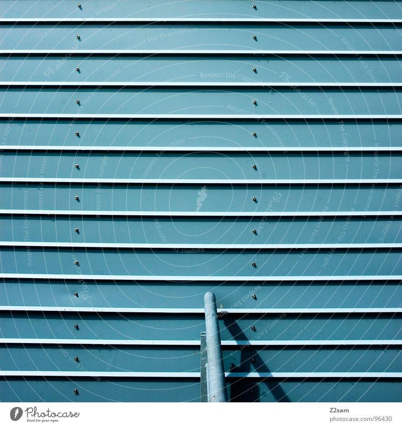 Blue Style Line Metal Background picture Modern Simple Handrail Iron Buttons Minimal Rivet Disk Roller blind Light blue