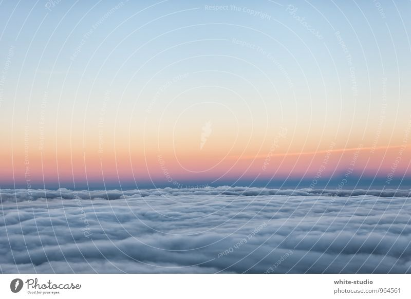 View: Cloudy Environment Sky Clouds Sunrise Sunset Sunlight Vacation & Travel Air Clouds in the sky Fog bank Shroud of fog Cloud pattern Veil of cloud