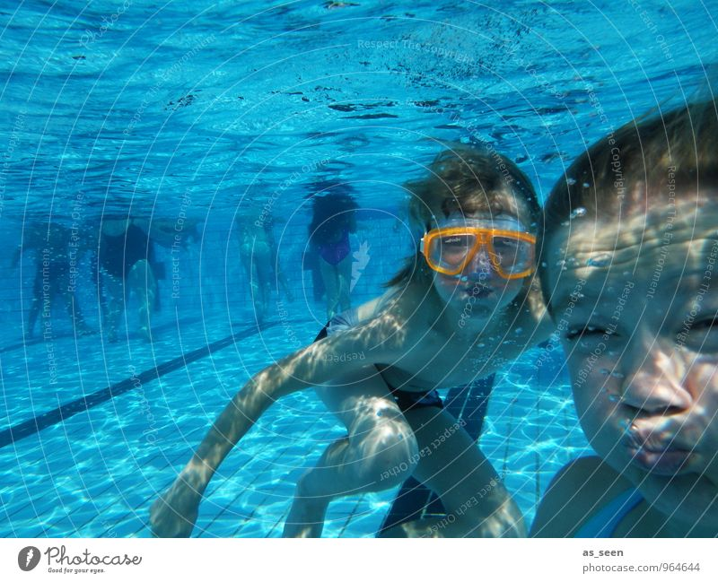 underwater gymnastics Fitness Swimming & Bathing Sports Training Masculine Feminine Girl Boy (child) Brothers and sisters Infancy Youth (Young adults) Life 2