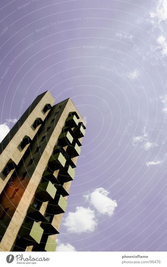 Sky House (Residential Structure) Berlin Stone Concrete High-rise Future Balcony Manmade structures Capital city