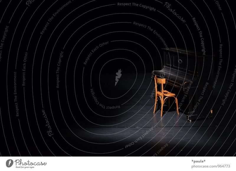 The calm before the... Chair Art Stage Event Shows Music Concert Piano Wait Esthetic Brown Black Anticipation Calm Curiosity Anxious Beginning Expectation