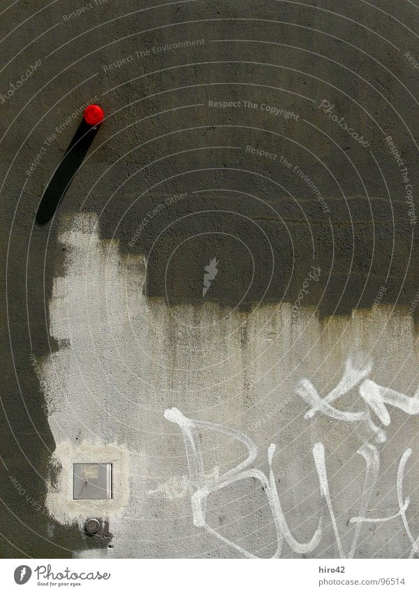 Red Wall (building) Wall (barrier) Background picture Industry Alarm Tagger Wuppertal