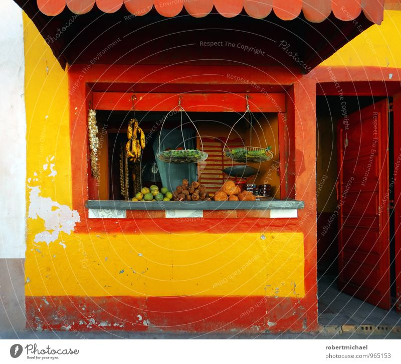 Red Healthy Eating Window Yellow Small Food Fruit Door Open Shopping Vegetable Store premises Trade Sell Lettuce