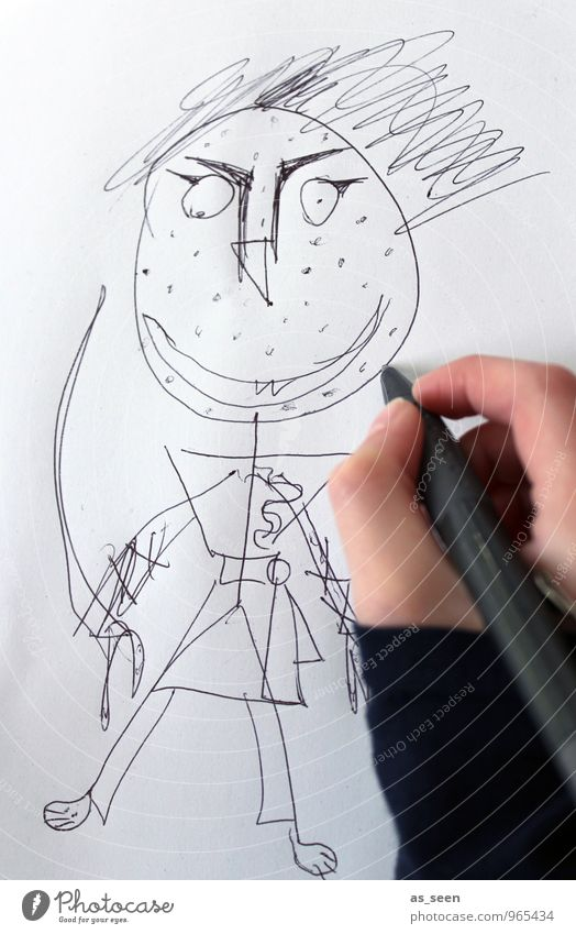 Child Hand Funny Art School Power Infancy Threat Creativity Paper Cool (slang) Uniqueness 8 - 13 years Carnival Draw Kindergarten