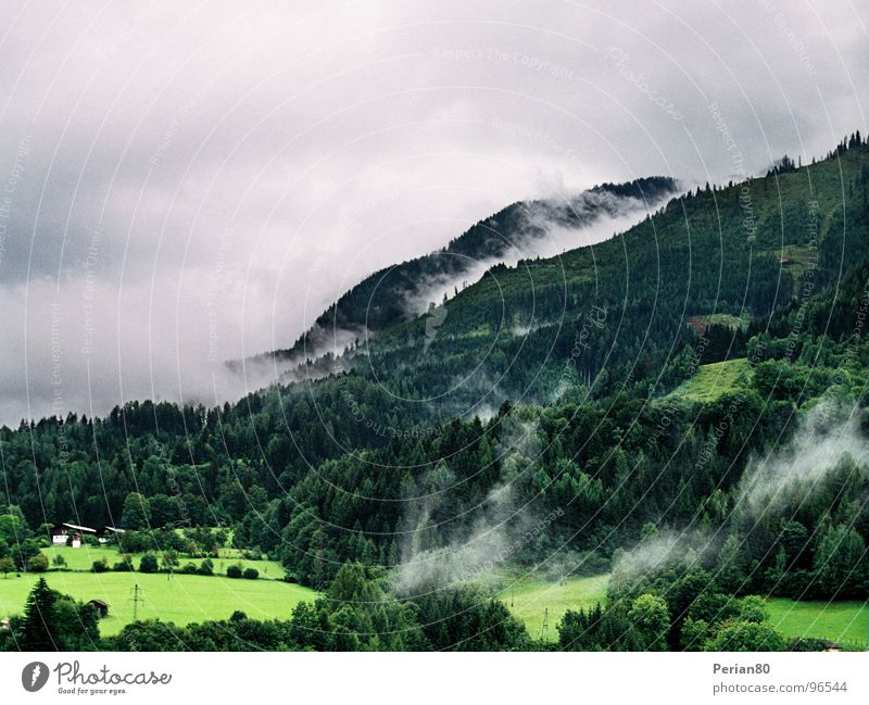 Clouds (Reloaded) Green Tree Meadow Gray Mountain Sky Landscape Weather grey countryside heaven trees meadows