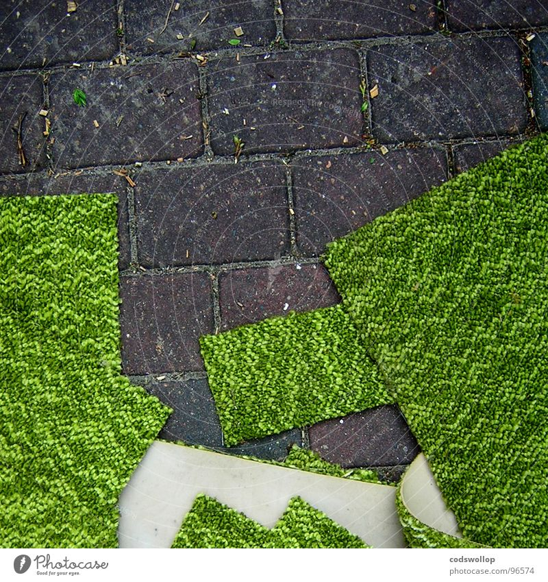 Green Landscape Sidewalk Square Craft (trade) Stack Redecorate Household Pull Comfortable Rectangle Woven Foam rubber Lint