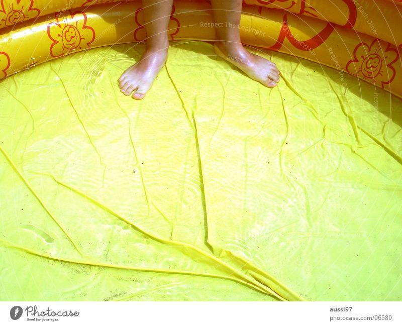 Water Vacation & Travel Summer Joy Playing Garden Feet Swimming & Bathing Swimming pool Cooling Refrigeration Paddling pool