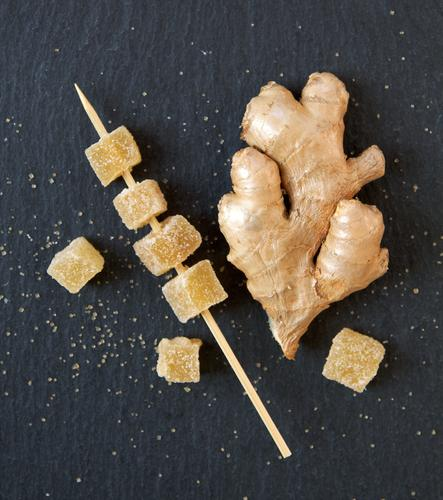 Ginger candied I Food Herbs and spices Sugar Nutrition Organic produce Vegetarian diet Diet Healthy Healthy Eating Yellow Gold Black To enjoy Digestive system