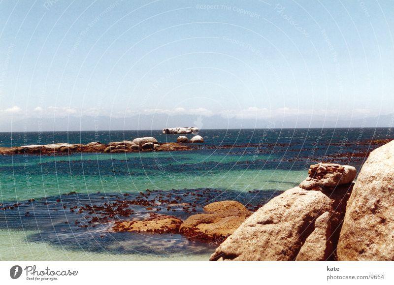 dream beach Ocean Beach South Africa Coast Ledge Rock Blue Sky