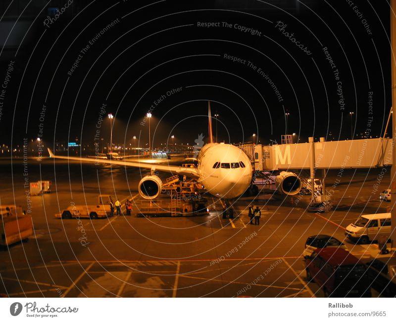 Home Base Airplane Drop anchor Night Load Runway Aviation passenger bridge Airport