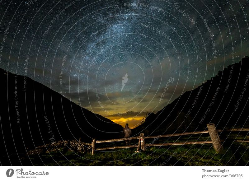 Watching The Stars Well-being Contentment Relaxation Calm Meditation Far-off places Freedom Summer Mountain Science & Research Human being 1 Environment Nature