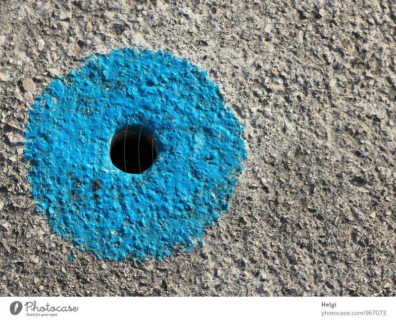 black hole Lanes & trails Concrete floor Exceptional Simple Uniqueness Round Blue Gray Black Safety Attentive Creativity Arrangement Hollow Circle