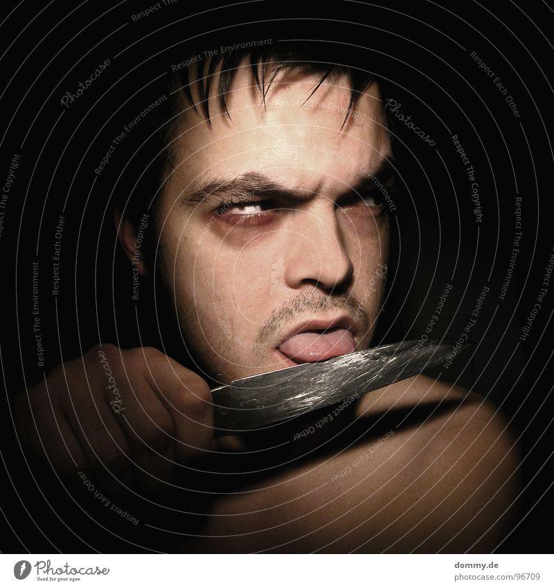 Man Blue Eyes Dark Death Hair and hairstyles Mouth Fear Skin Nose Fingers Ear Pain Facial hair Silver