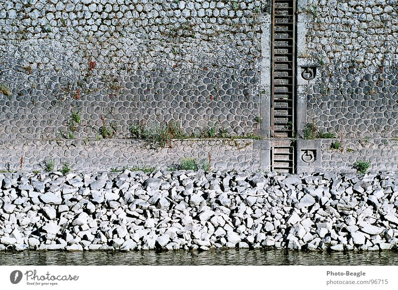 Water Summer Wall (building) Stone Wall (barrier) Watercraft Industry Harbour Jetty Ladder Navigation Port Mole Dock Stone wall Low water