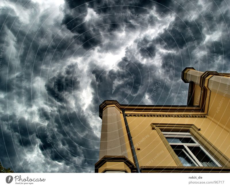 Right away, kracht´s, seal off the bulkheads! Hell Deities Devil Storm Clouds Church spire Black Dark Yellow Dangerous House of worship Wet Humidity Physics Hot