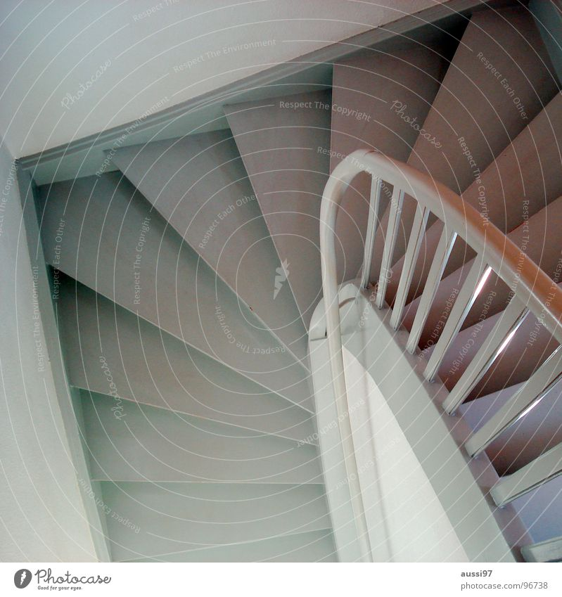upstairs Banister Hallway House (Residential Structure) Going Under Upward Downward Stairs Living or residing go down go up