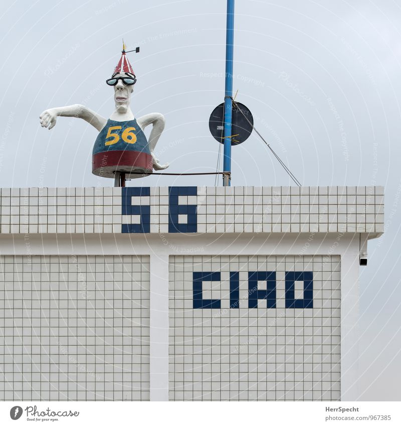 Ciao numero cinquantasei Vacation & Travel Summer vacation Beach Rimini Italy Manmade structures Building Wall (barrier) Wall (building) Roof Exceptional