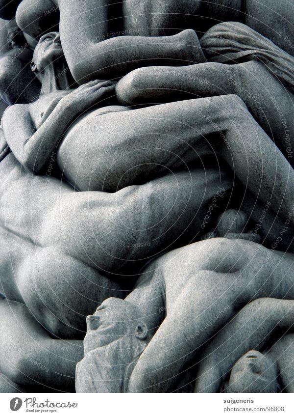 Human being Calm Naked Garden Stone Sadness Park Art Sleep Education Crowd of people Narrow Sculpture Column Norway