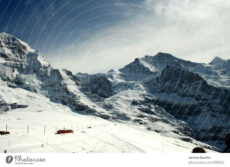 Cold Snow Mountain Large Alps Glacier Eiger