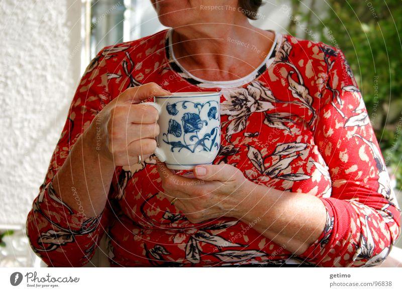 Woman Hand Flower Summer Garden Coffee Drinking Tea Café Cup Beverage Flowery pattern