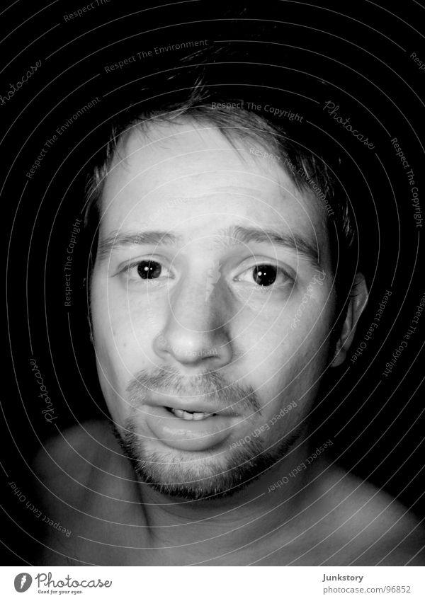Human being Man Face Eyes Life Dark Skin Masculine Transience Friendliness Facial hair Stupid Snapshot Ask Smooth Fellow