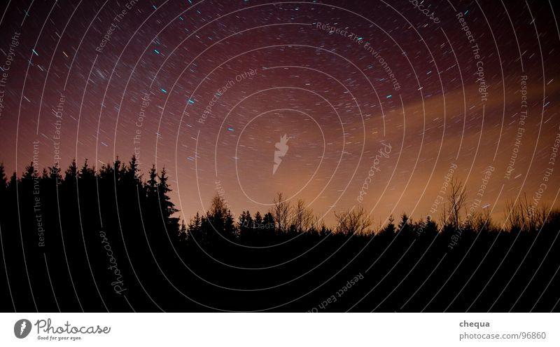 Sky Black Forest Dark Orange Stars Earth Violet Rotation Starry sky