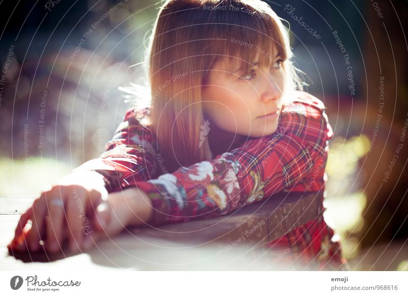 Indian buzzer Feminine Young woman Youth (Young adults) 1 Human being 18 - 30 years Adults Sunlight Beautiful weather Natural Red Colour photo Exterior shot Day