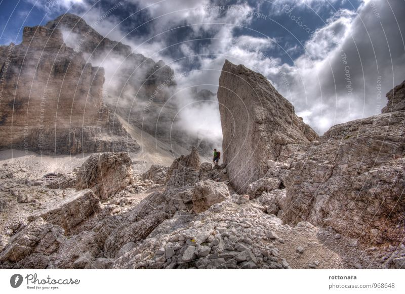 Tofana De Rozes - the great mountain Athletic Adventure Freedom Mountain Hiking Sports Climbing Mountaineering Trkking Mountain guide Human being 1 Nature Sky