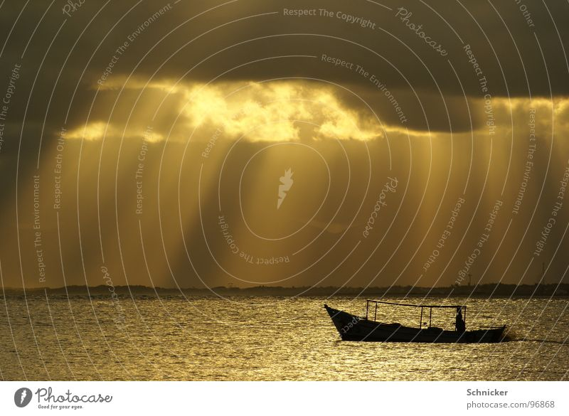 Sky Ocean Clouds Loneliness Watercraft Lighting God Brazil Deities Fisherman