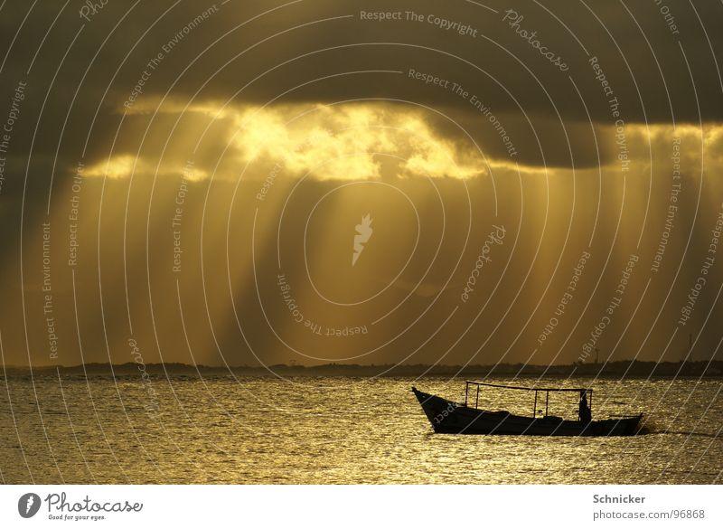 Sky Ocean Clouds Loneliness Watercraft Lighting God Brazil Deities Fisherman