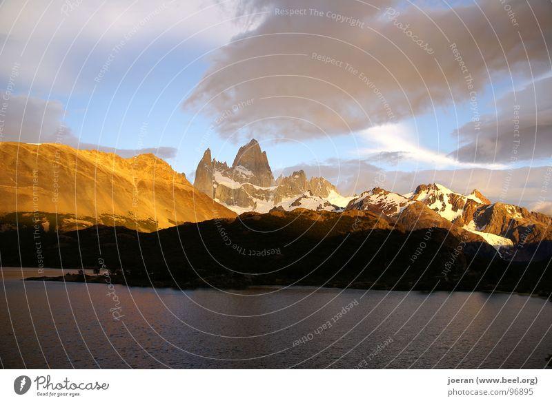 Fitz Roy I Mountain Hiking Clouds Romance Hope Sunset Mystic Argentina National Park South America mountainous Dusk Fritz Roy wonder of the world breathtaking