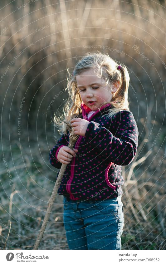 autumn child Leisure and hobbies Playing Children's game Trip Adventure Autumn Garden Human being Feminine Toddler Girl Infancy 1 1 - 3 years 3 - 8 years Blonde