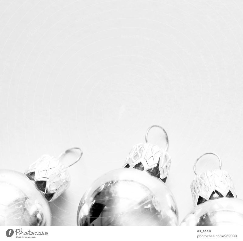 Christmas & Advent White Style Gray Feasts & Celebrations Moody Lie Glittering Lifestyle Elegant Design Decoration Illuminate Modern Glass Esthetic