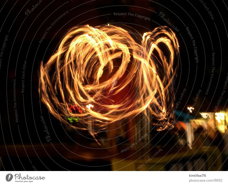 fire play Light Night Playing Visual spectacle Circle Long exposure Speed Blaze