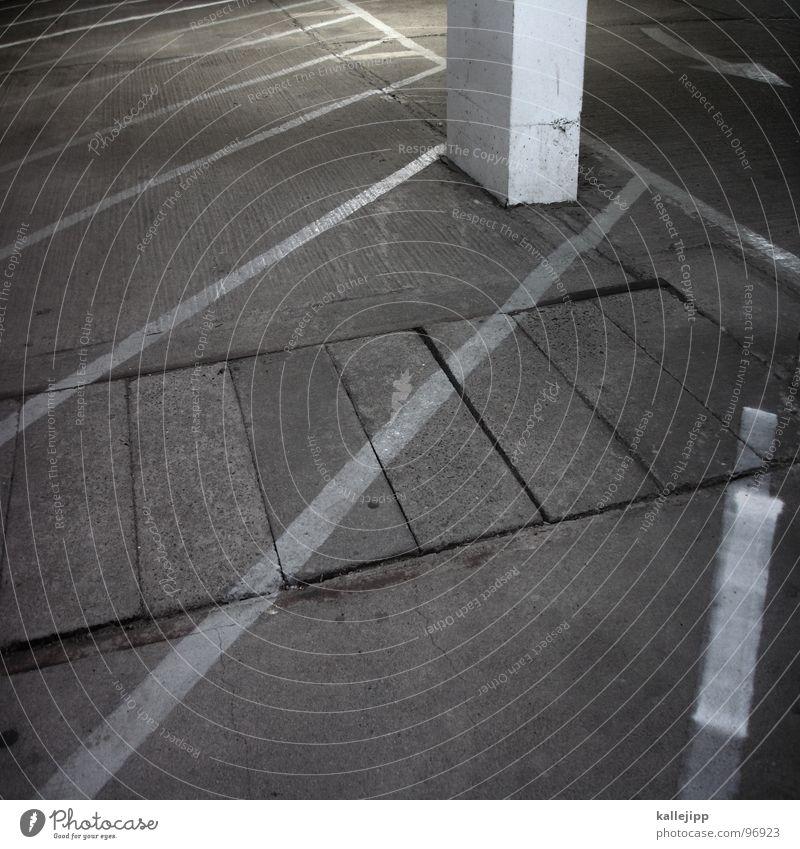 Calm Room Concrete Places Empty End Arrow Direction Parking Parking lot Parking garage Dance floor