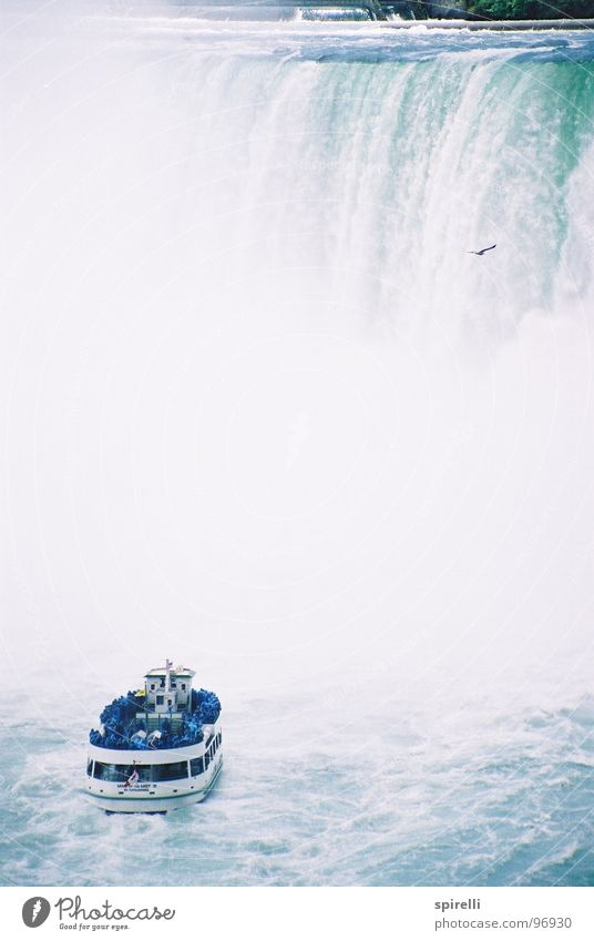 Niagara Fall Vacation & Travel Sightseeing Water Waterfall Landmark Navigation Cruise Boating trip Ferry Watercraft Tall Wet Blue White Energy Discover Cold