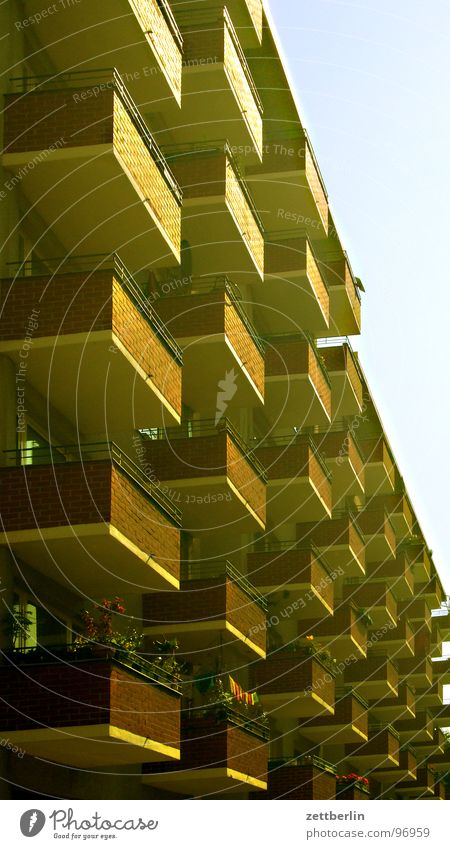 Sky House (Residential Structure) Berlin Facade Arrangement Balcony Row Column Prefab construction New building