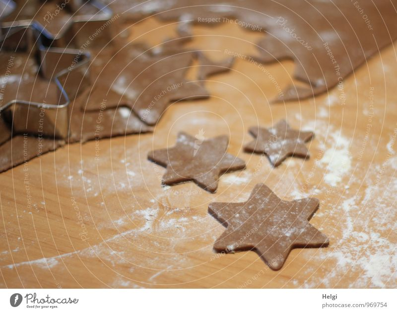 Christmas Bakery V Food Dough Baked goods Candy Gingerbread Cookie Christmas biscuit Flour Nutrition Metal Star (Symbol) Fragrance Authentic Fresh Uniqueness