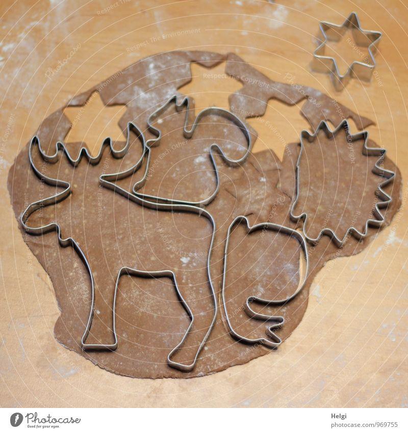 Christmas & Advent Beautiful Gray Brown Moody Food Metal Lie Authentic Fresh Esthetic Nutrition Creativity Joie de vivre (Vitality) Uniqueness Star (Symbol)