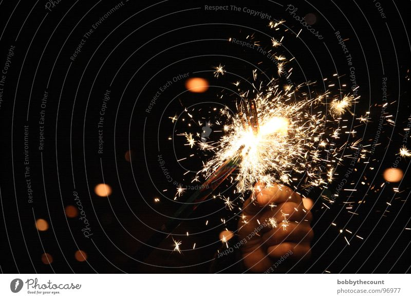 Beautiful Joy Happy Bright Feasts & Celebrations Birthday New Year's Eve Hot Firecracker Burn Spark Sparkler