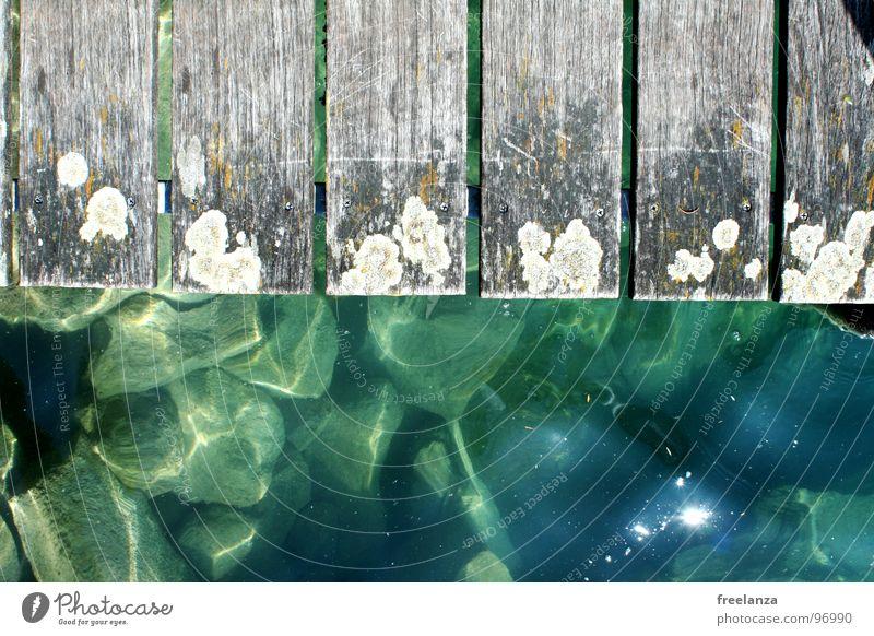 footbridge Green Footbridge Vacation & Travel Reflection Wood Water Blue Sun Stone