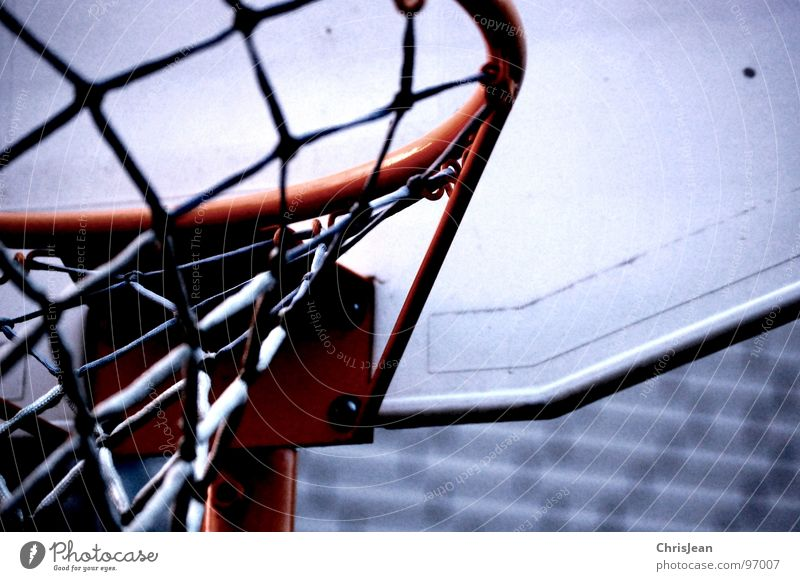 Clouds Sports Playing Weather Net Leisure and hobbies Throw Basket Basketball Basketball basket Ball sports