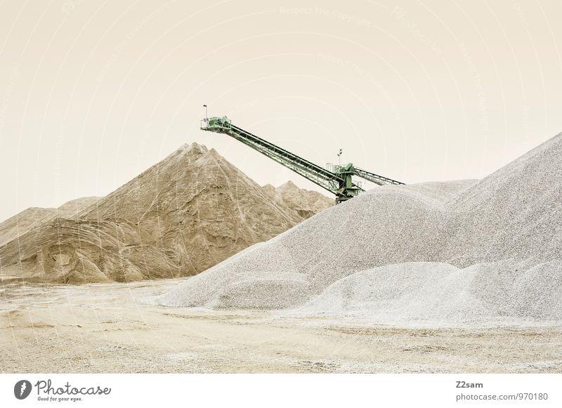 Colour Loneliness Landscape Calm Mountain Sand Arrangement Elegant Esthetic Concrete Simple Clean Pure Material Crane Beige