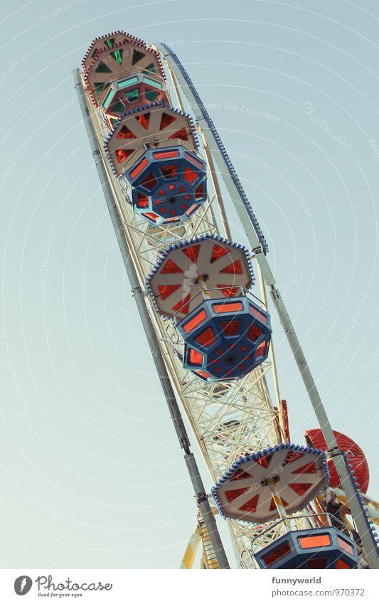 obliquely Fairs & Carnivals Above Under Joy Joie de vivre (Vitality) Ease Tall Large Ferris wheel Colour photo Exterior shot Copy Space left Copy Space right