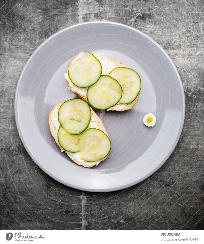 Cucumber sandwiches in grey plate Food Vegetable Bread Nutrition Breakfast Lunch Organic produce Vegetarian diet Diet Retro Snack Butter Sandwich Plate English