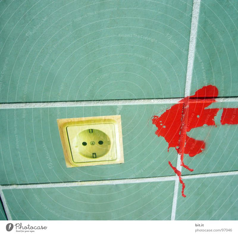 Green Red Wall (building) Dye Wall (barrier) Line Energy Electricity Target Sign Arrow Tile Direction Seam Label Clue