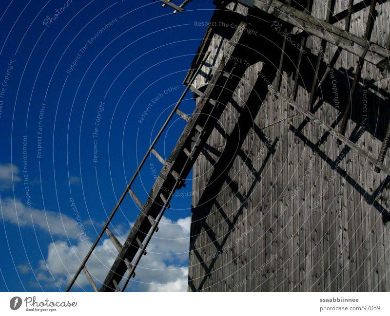Sky Summer Joy Clouds Dream Wind Monument Landmark Ease Rural Windmill Good mood