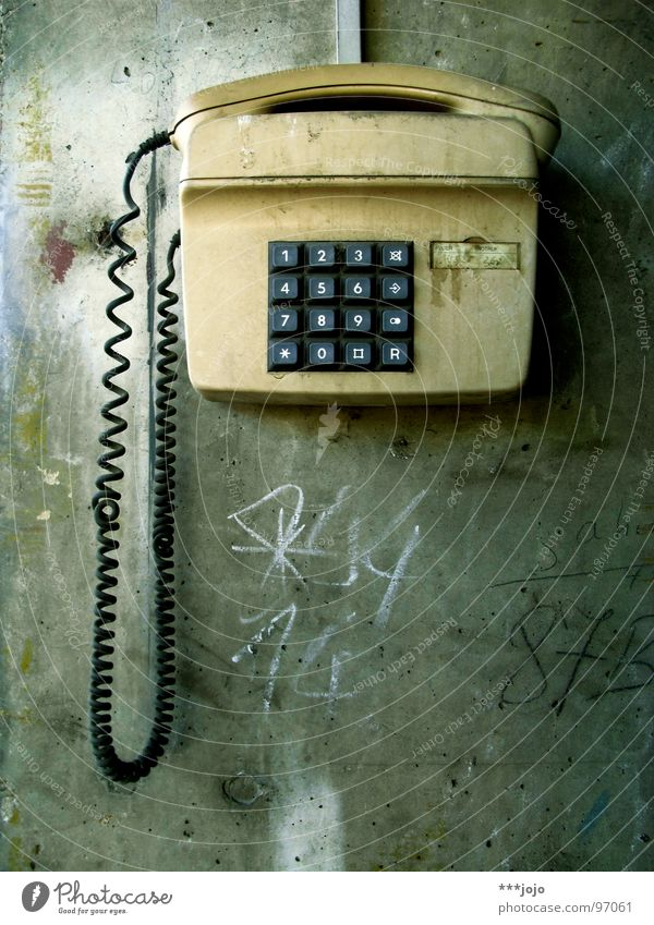 please dial #50 Telephone Select Deutsche Telekom Dirty Wall (barrier) Digits and numbers The eighties Concrete Interlaced Phone book Bypass Accessible Reach
