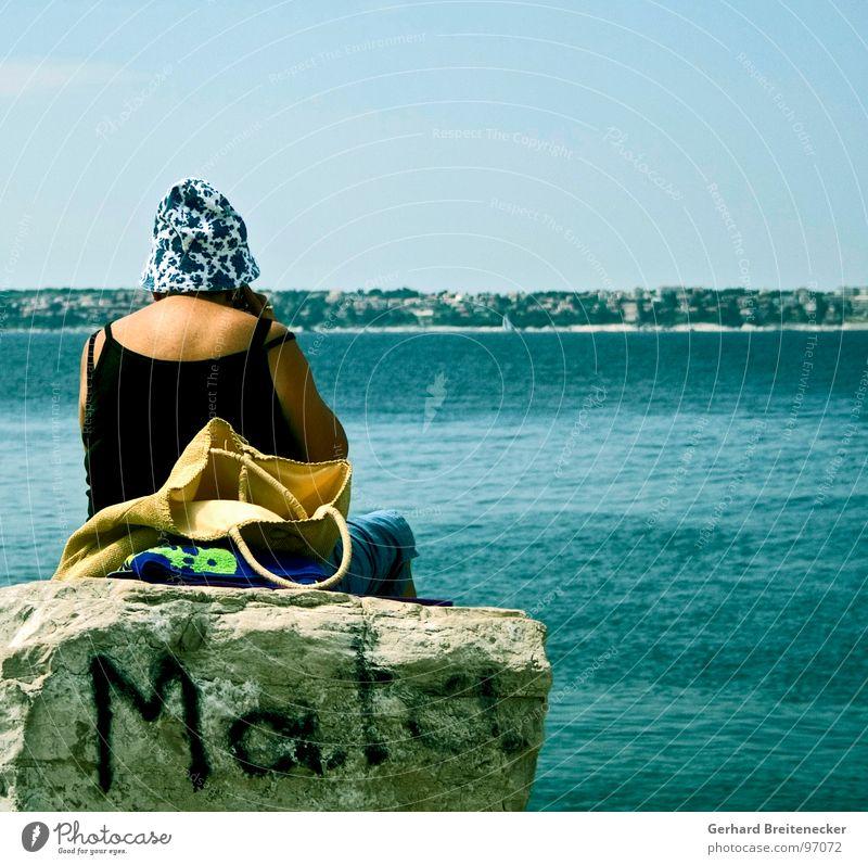 Ocean Think Warmth Graffiti Rock Sit Vantage point Physics Anger Hat Aggravation Spray Tagger Baseball cap