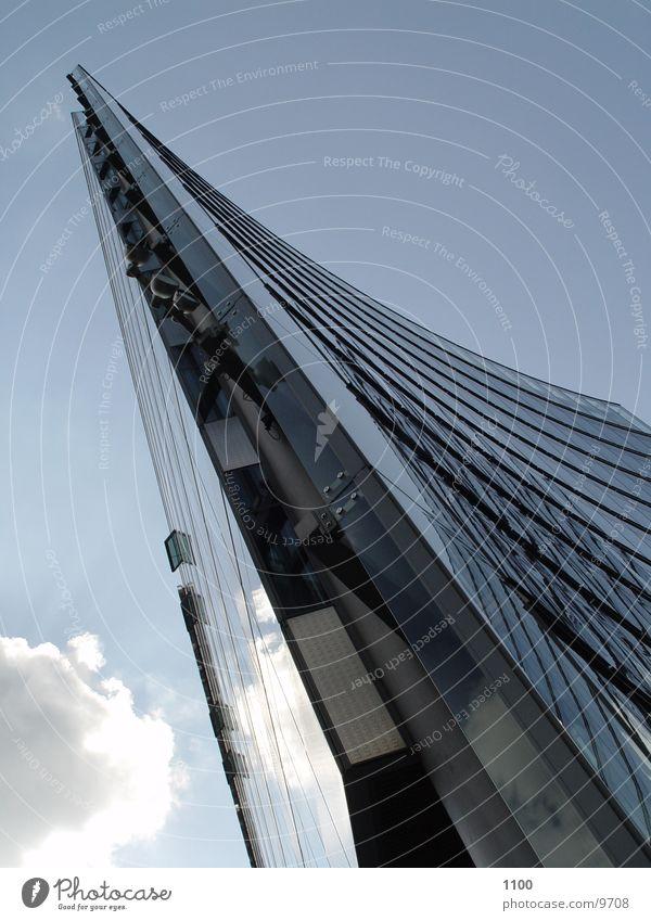 Sky Clouds Berlin Architecture Glass High-rise Modern Corner